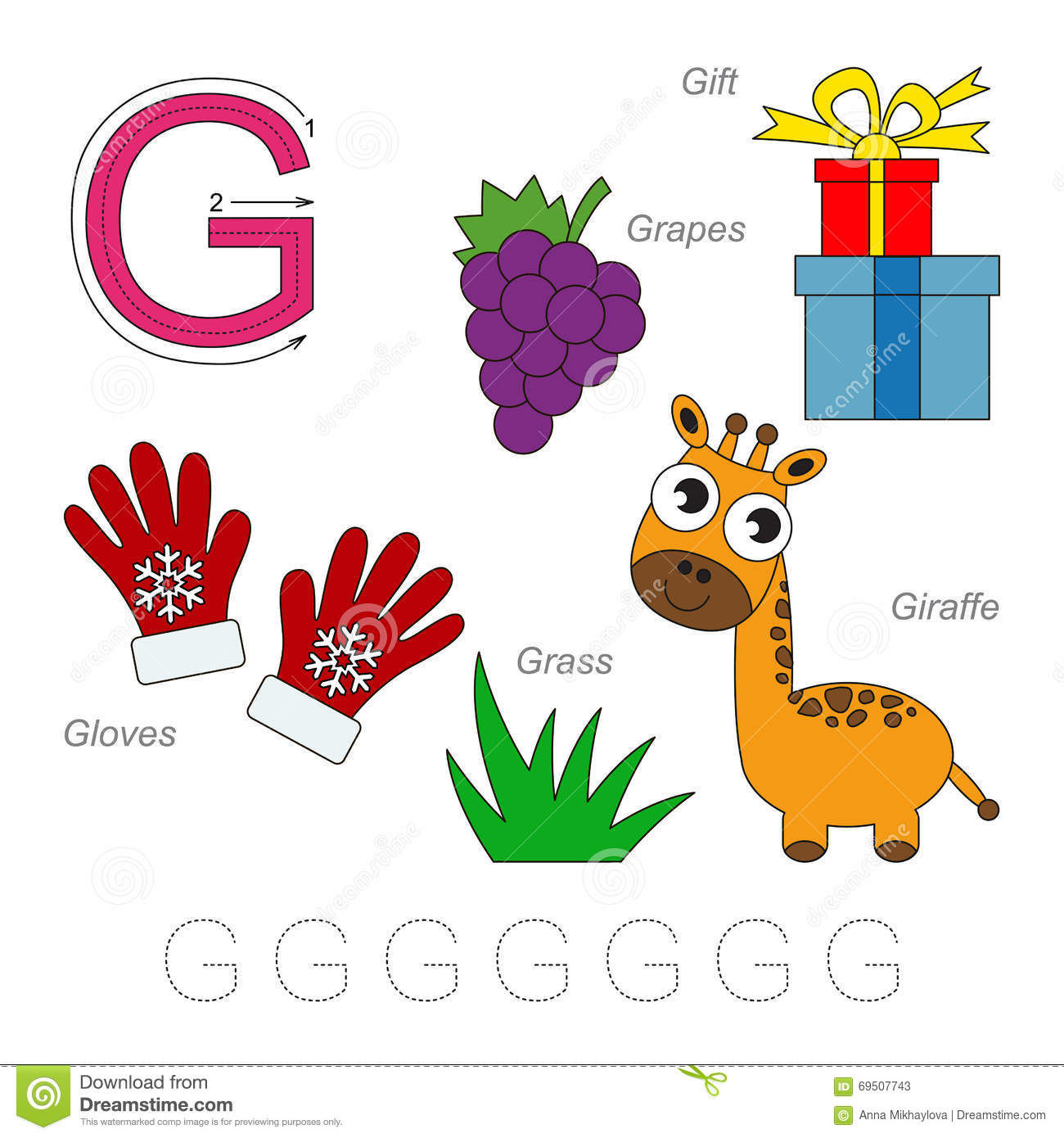 Pictures For Letter G Stock Vector Illustration Of