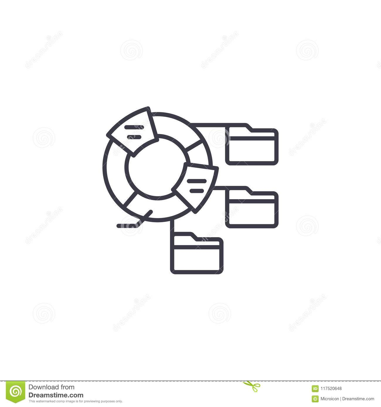 Pie Graph Linear Icon Royalty Free Stock Photo