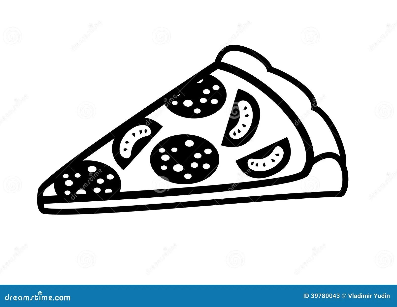 Piece Of Pizza Stock Vector Illustration Of Cartoon