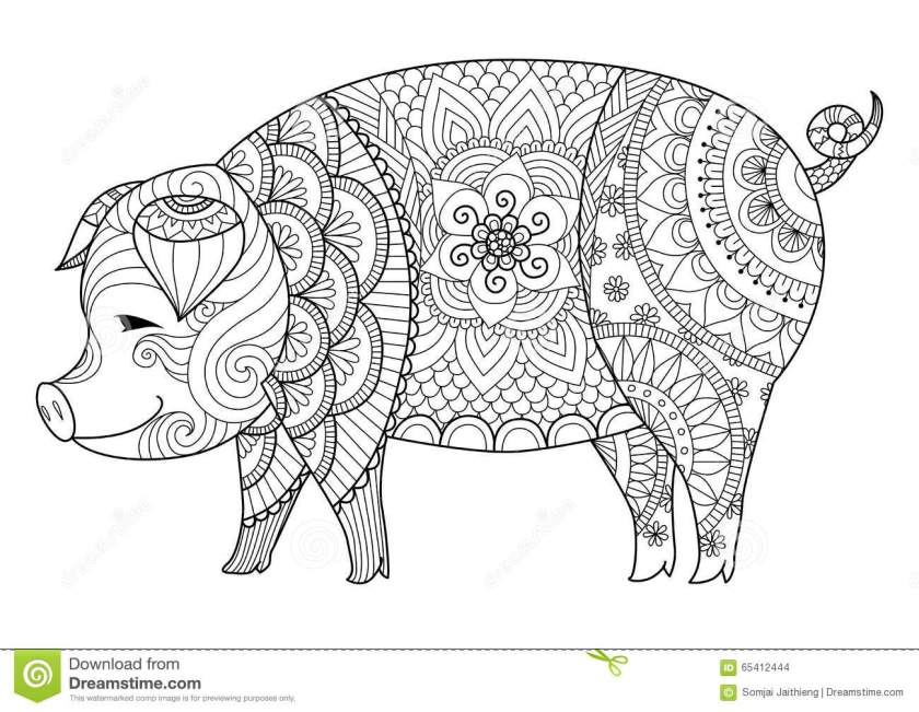pig stock vector  image 412444