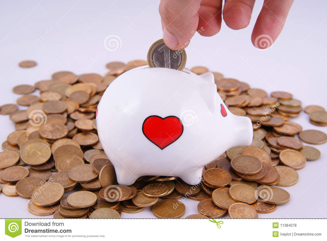 Piggy Bank And Coins Stock Photo Image Of Object