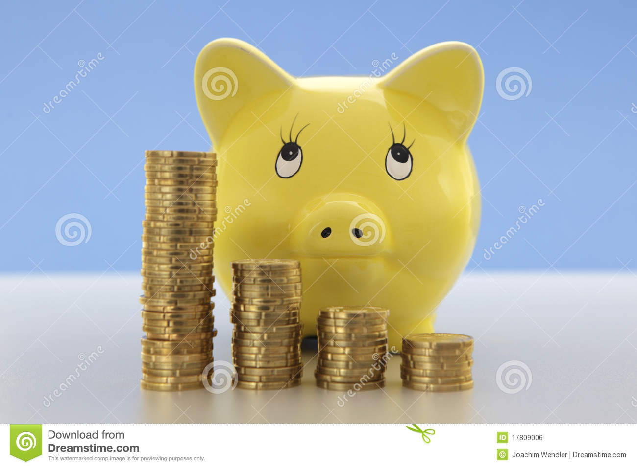 Piggy Bank With Coins Stock Photo Image Of Closeup