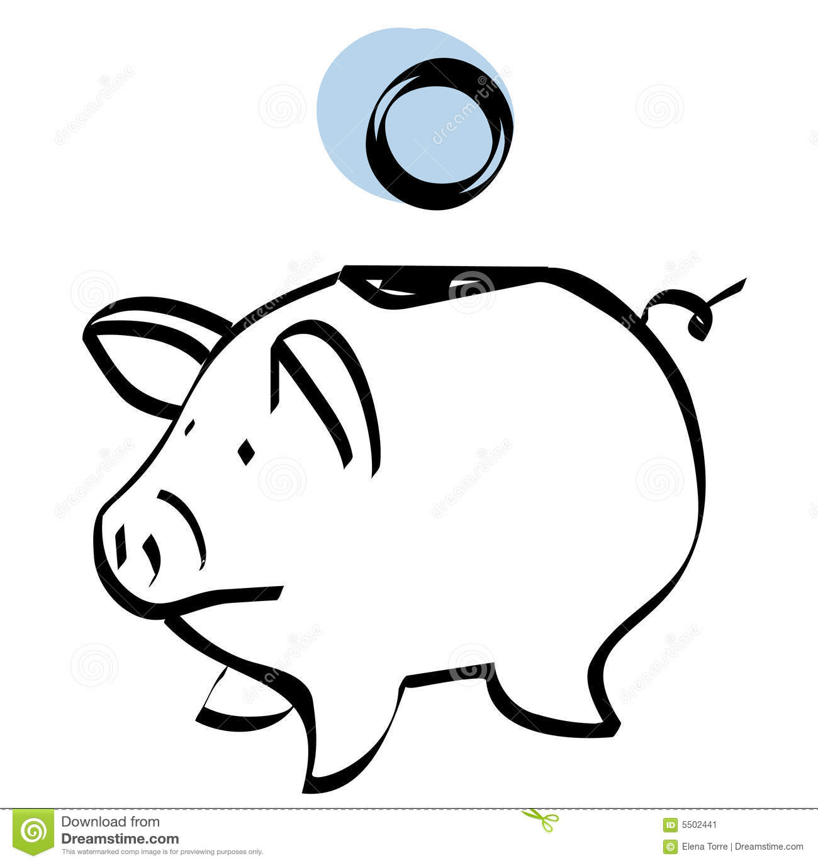 Piggy Bank Vector Stock Image