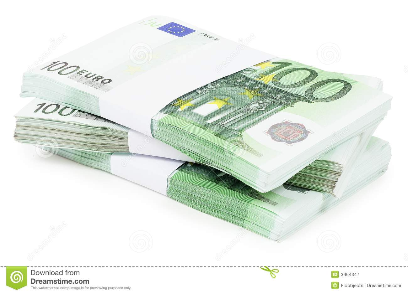 Pile Of 100 Euros Stock Image Image Of Currency Work