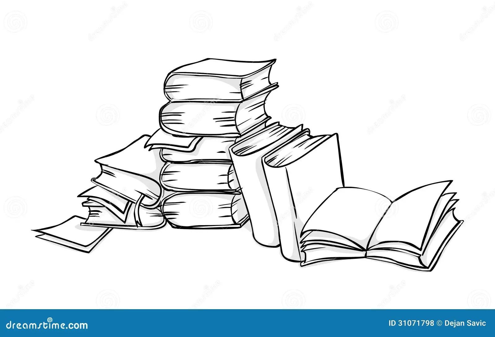 Pile Of Books Royalty Free Stock Photos