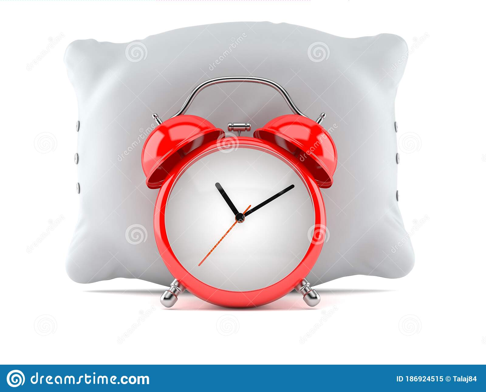 pillow with alarm clock stock illustration illustration of laze 186924515