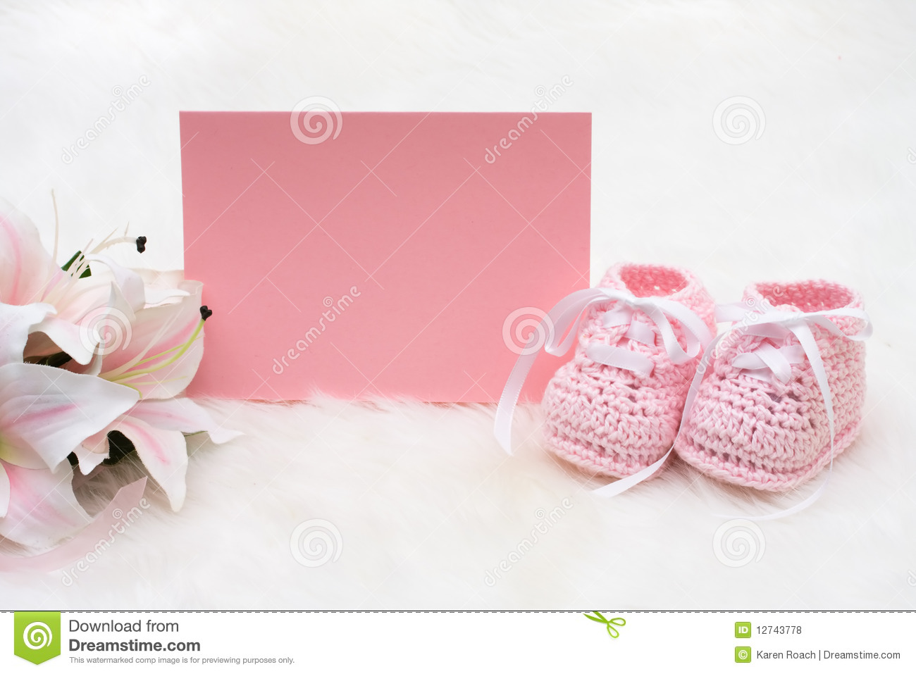 Pink Baby Booties Royalty Free Stock Photos Image 12743778