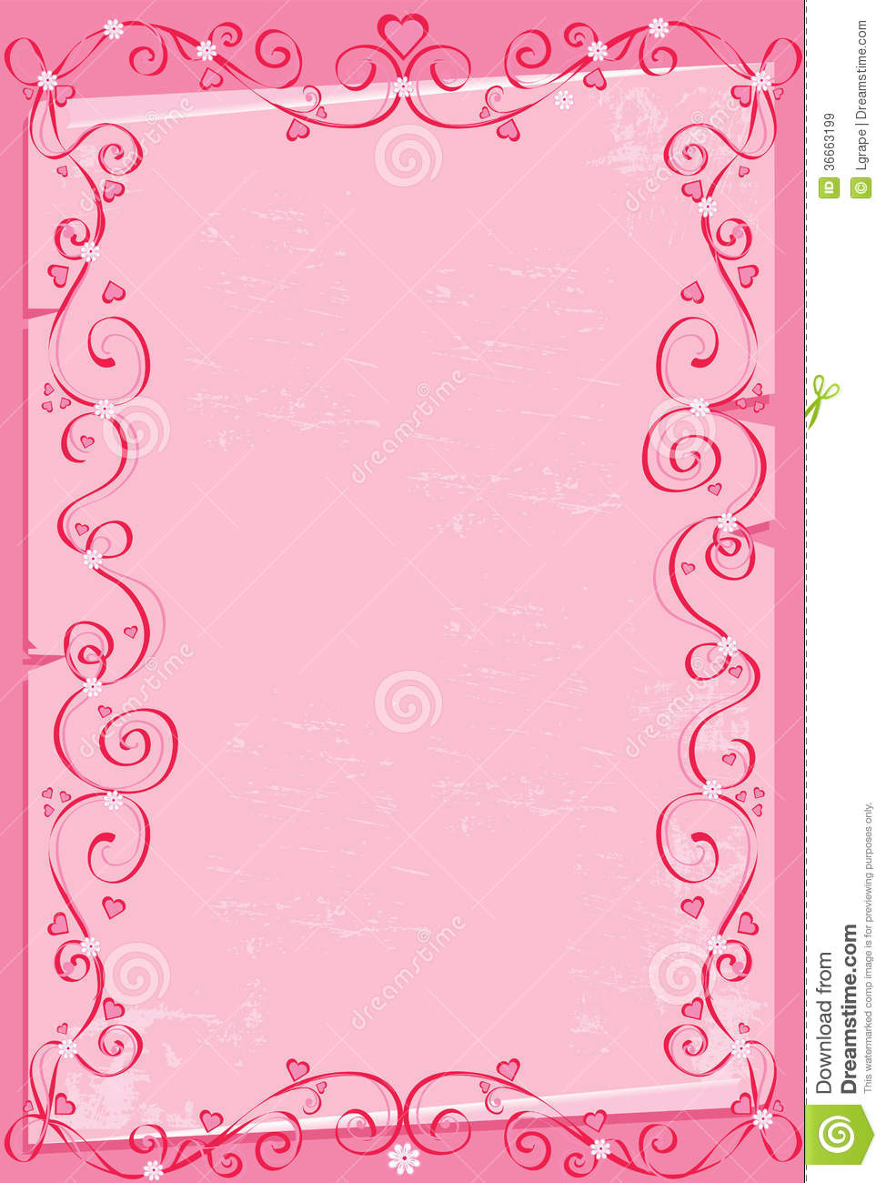 Pink Background With Hearts Royalty Free Stock Images