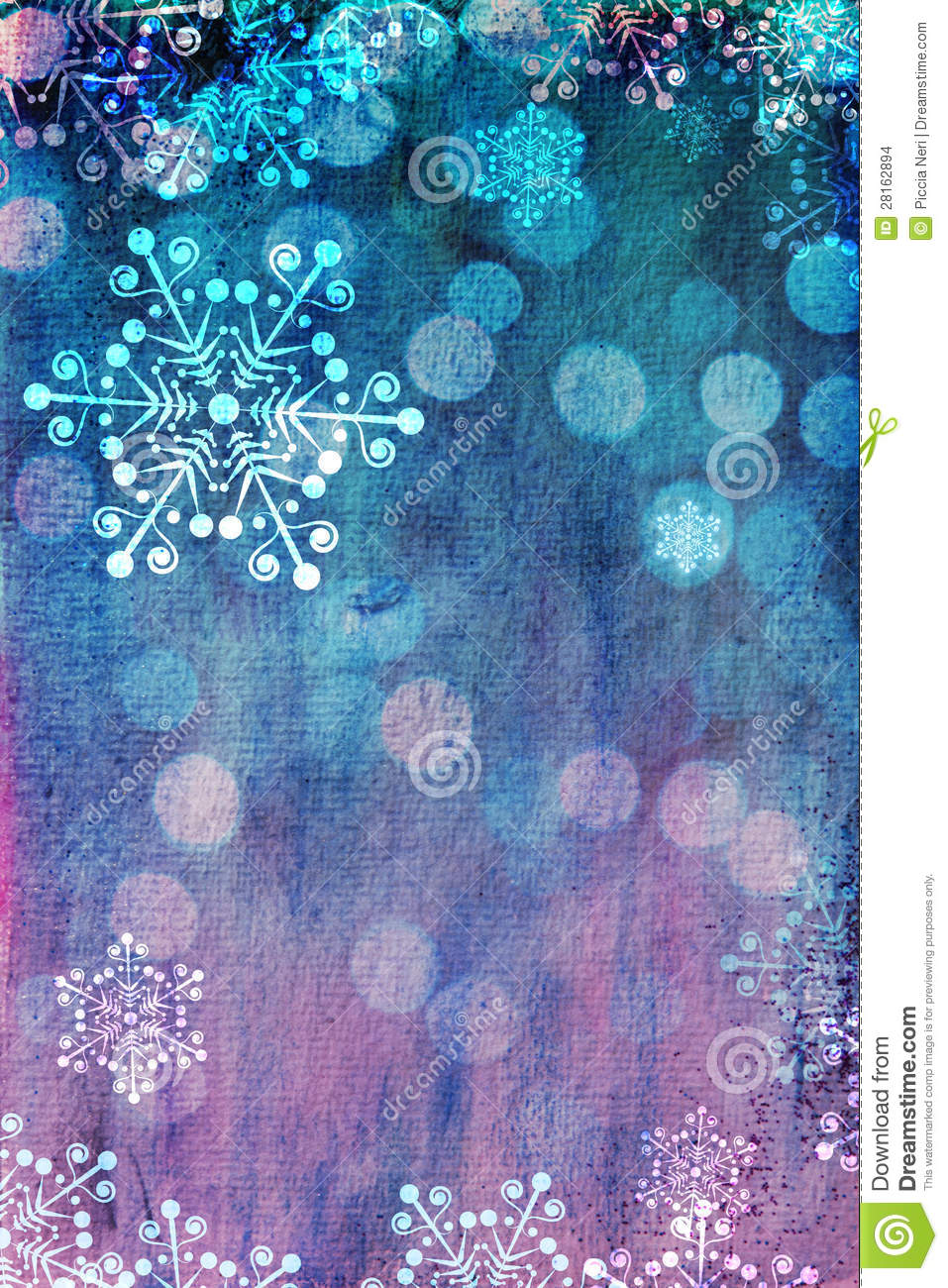 Pink And Blue Christmas Card Stock Images Image 28162894