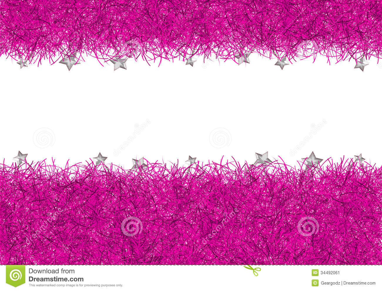 Pink Christmas Tinsel Texture Background Stock Image