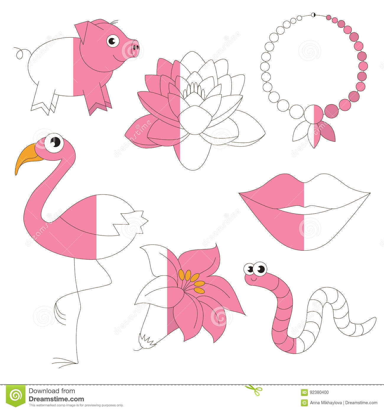 Pink Color Objects The Big Kid Game To Be Colored By