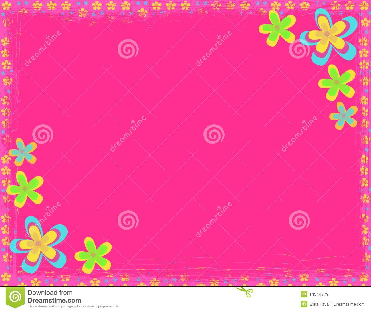 Pink Flower Hippie Background Royalty Free Stock Images Image 14544779