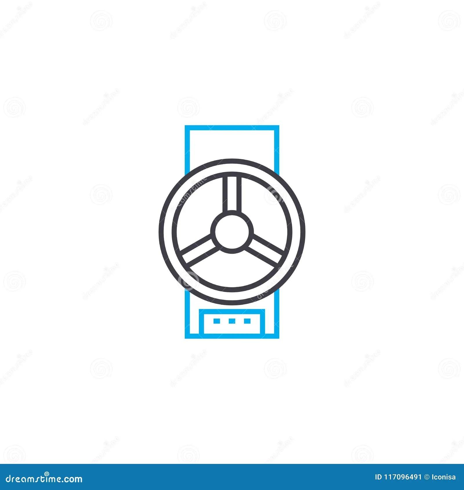 Pipeline Valve Linear Icon Concept Pipeline Valve Line