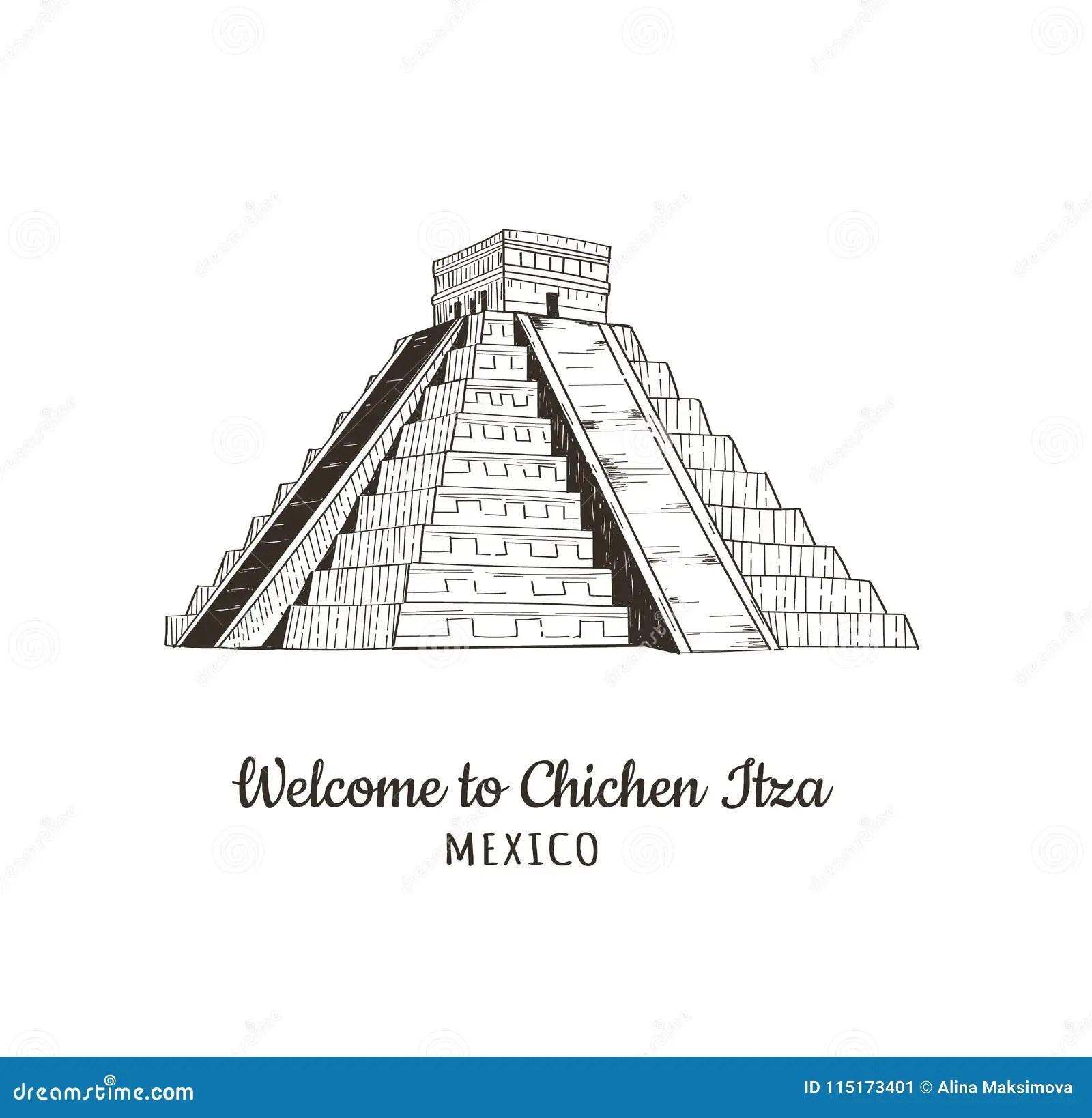 Piramide Mexicana Del Maya Ilustracion Del Vector