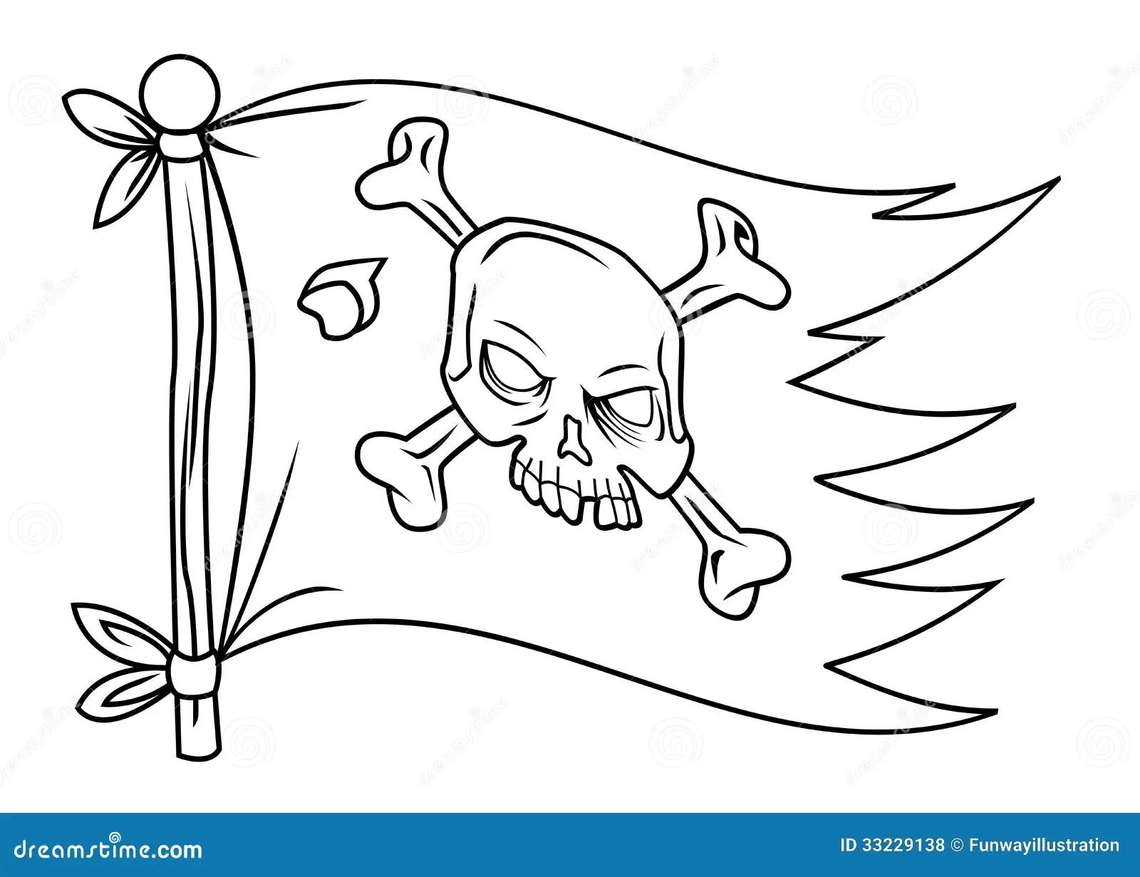 Pirate Flag Stock Illustration Illustration Of Warning
