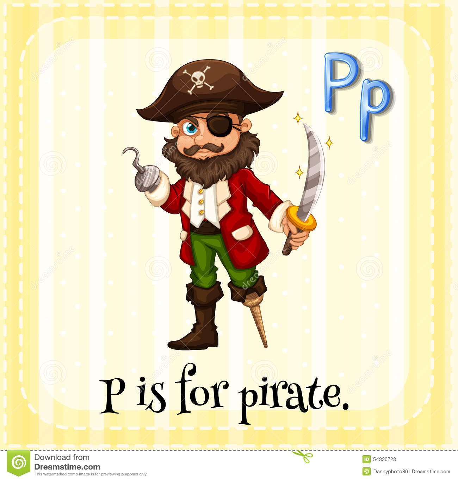 Pirate Stock Vector Illustration Of Linquistic Children