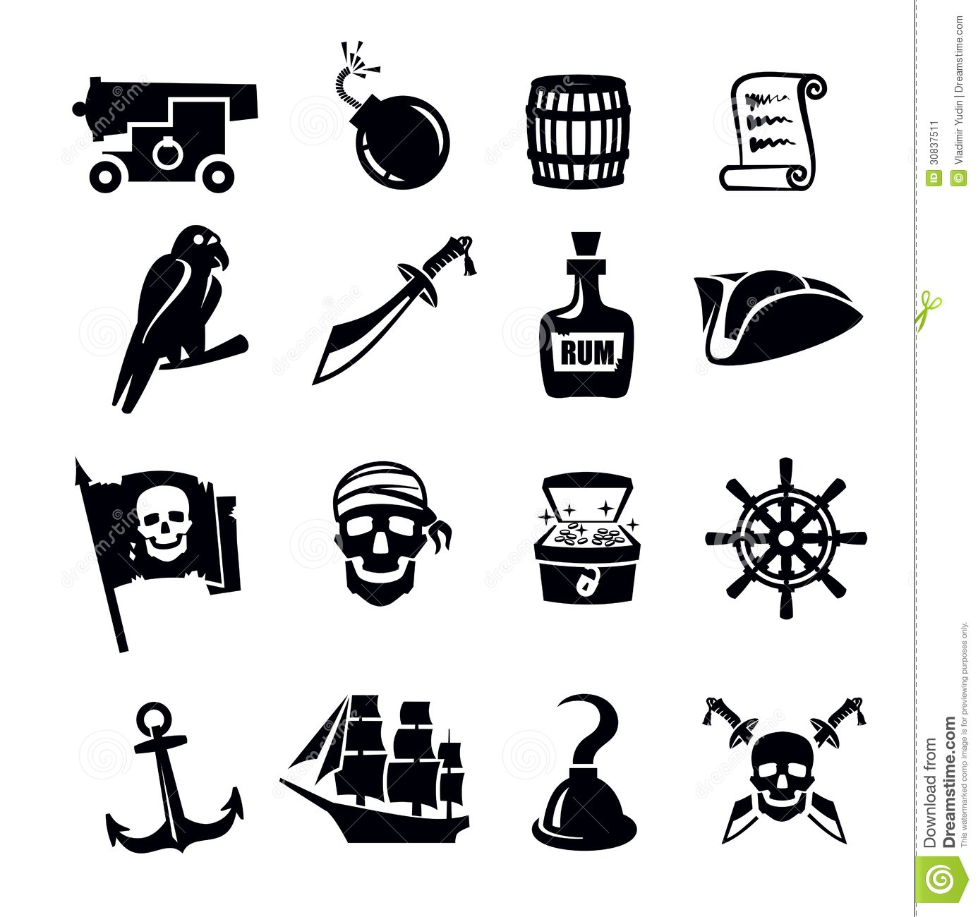 Pirates Icon Stock Vector Image Of Roger Horror
