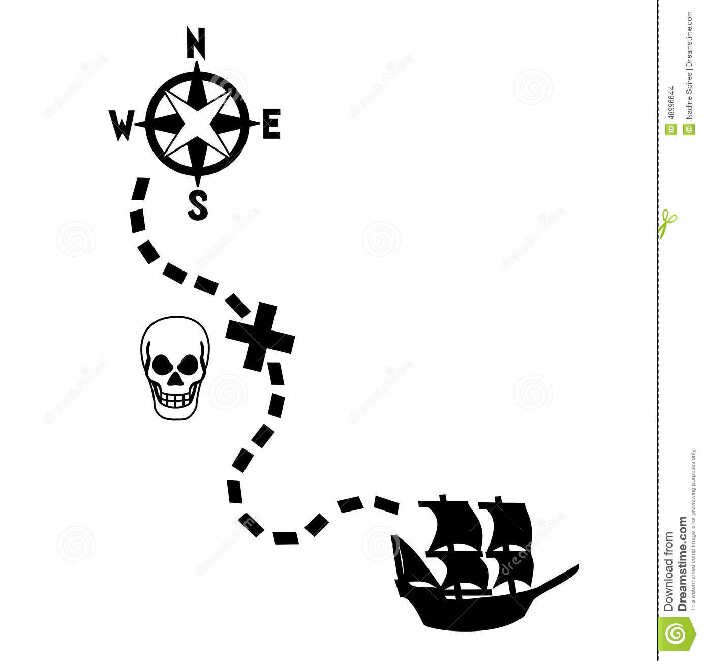 Pirates Treasure Map Stock Vector Illustration Of Vector
