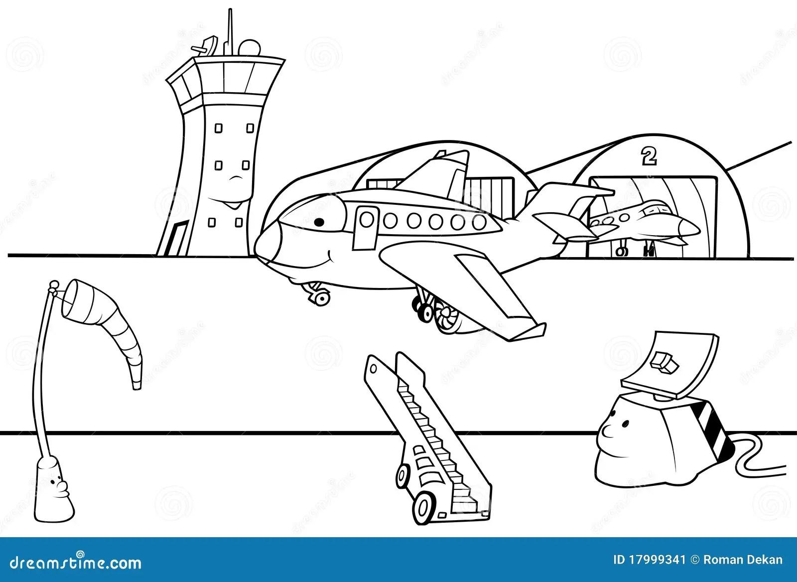 Pista De Decolagem Do Aeroporto Ilustracao Do Vetor