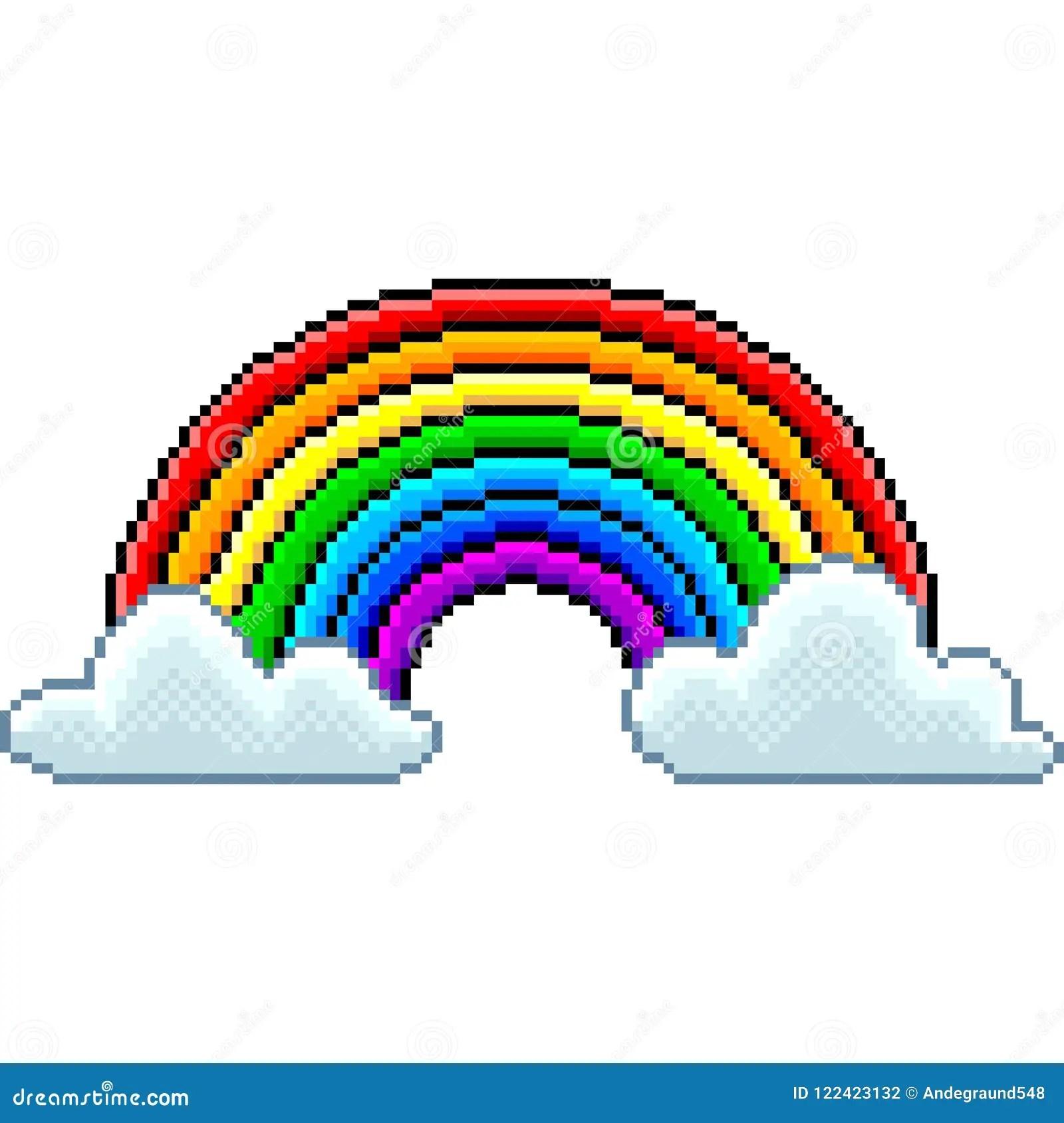 Pixel Rainbow Stock Illustrations 7 948 Pixel Rainbow Stock Illustrations Vectors Clipart Dreamstime