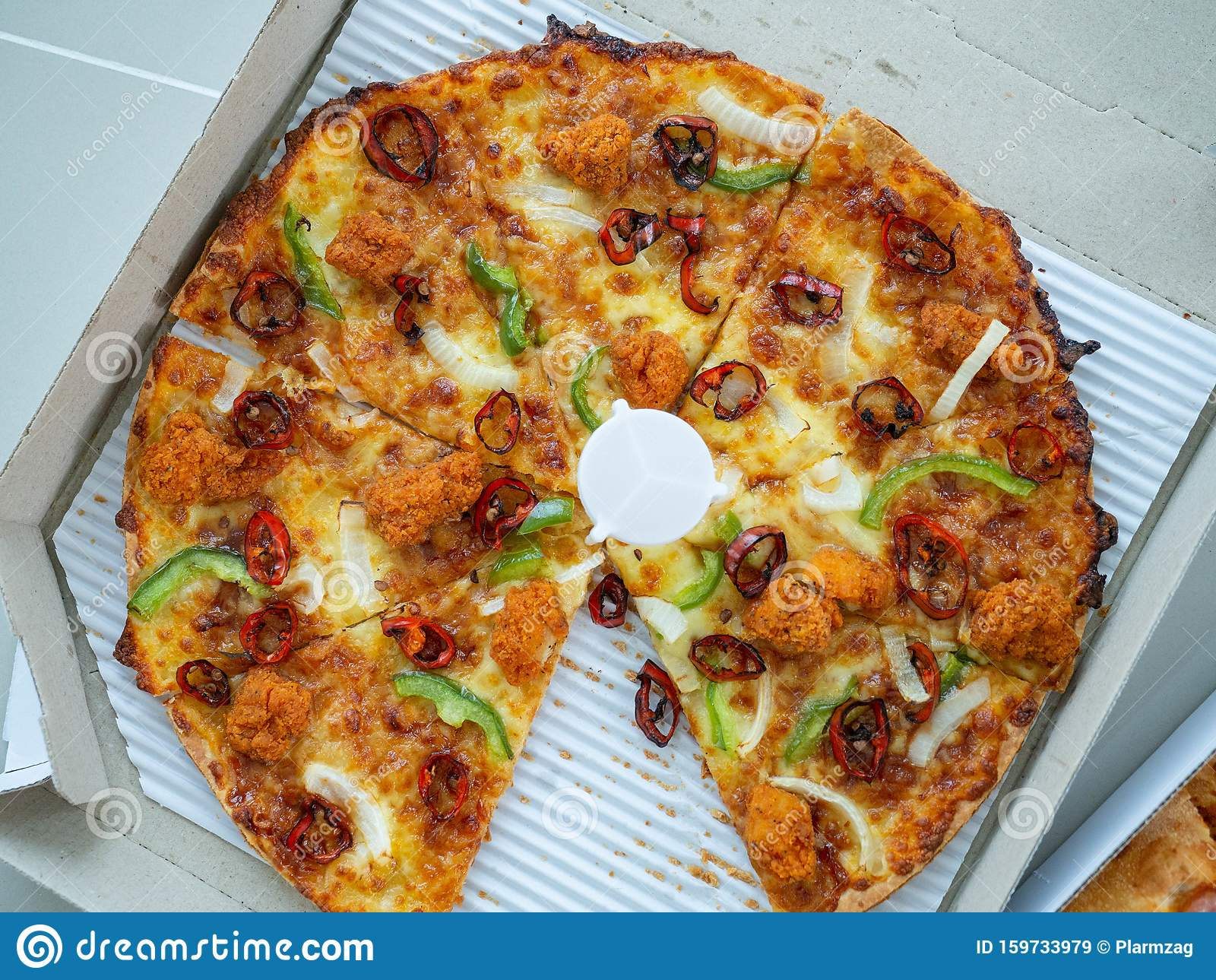 Pizza In The Box Happy Lunch Fast Food Fat Dangerous Eat