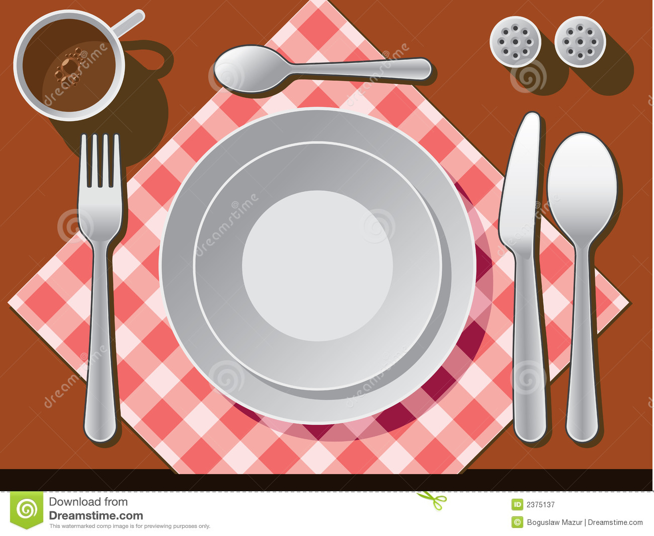 Place Setting Stock Vector Illustration Of Banquet Meal