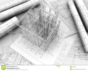 Plan drawing stock illustration Image of plan, home