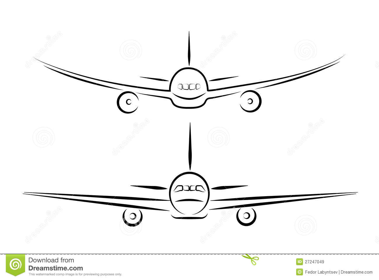 Plane Silhouette Stock Vector Illustration Of Object