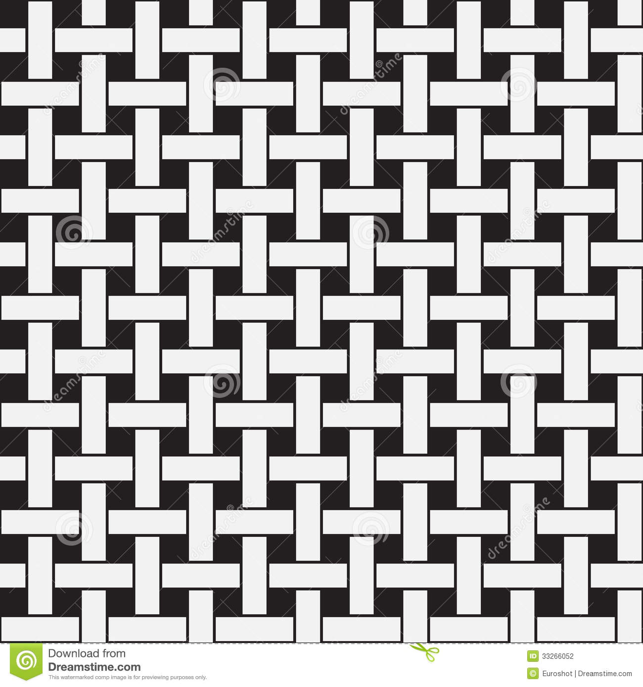 Plane Weave Black And White Vector Seamless Pattern