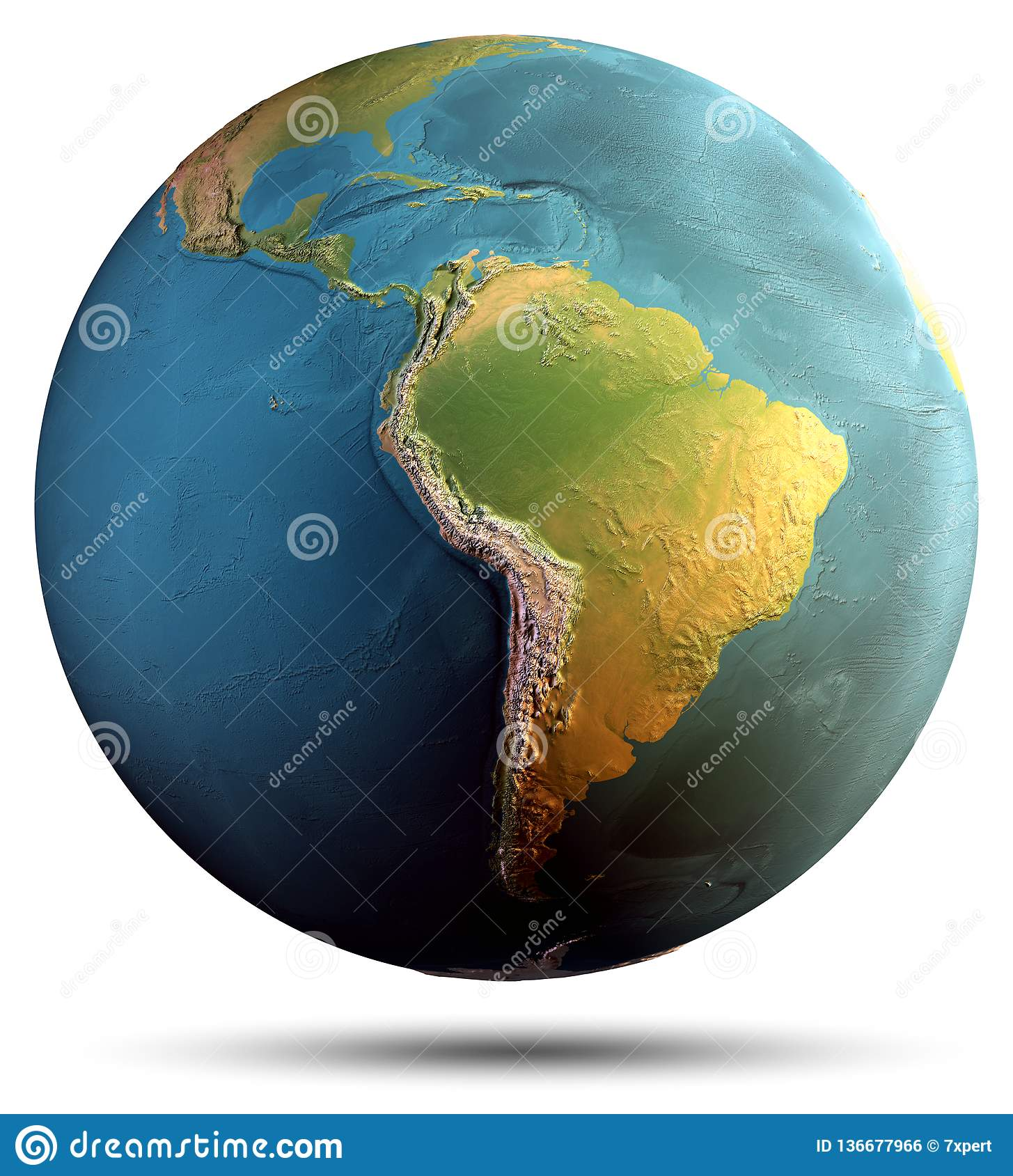 Planet Earth Continents Stock Photo Image Of Continent