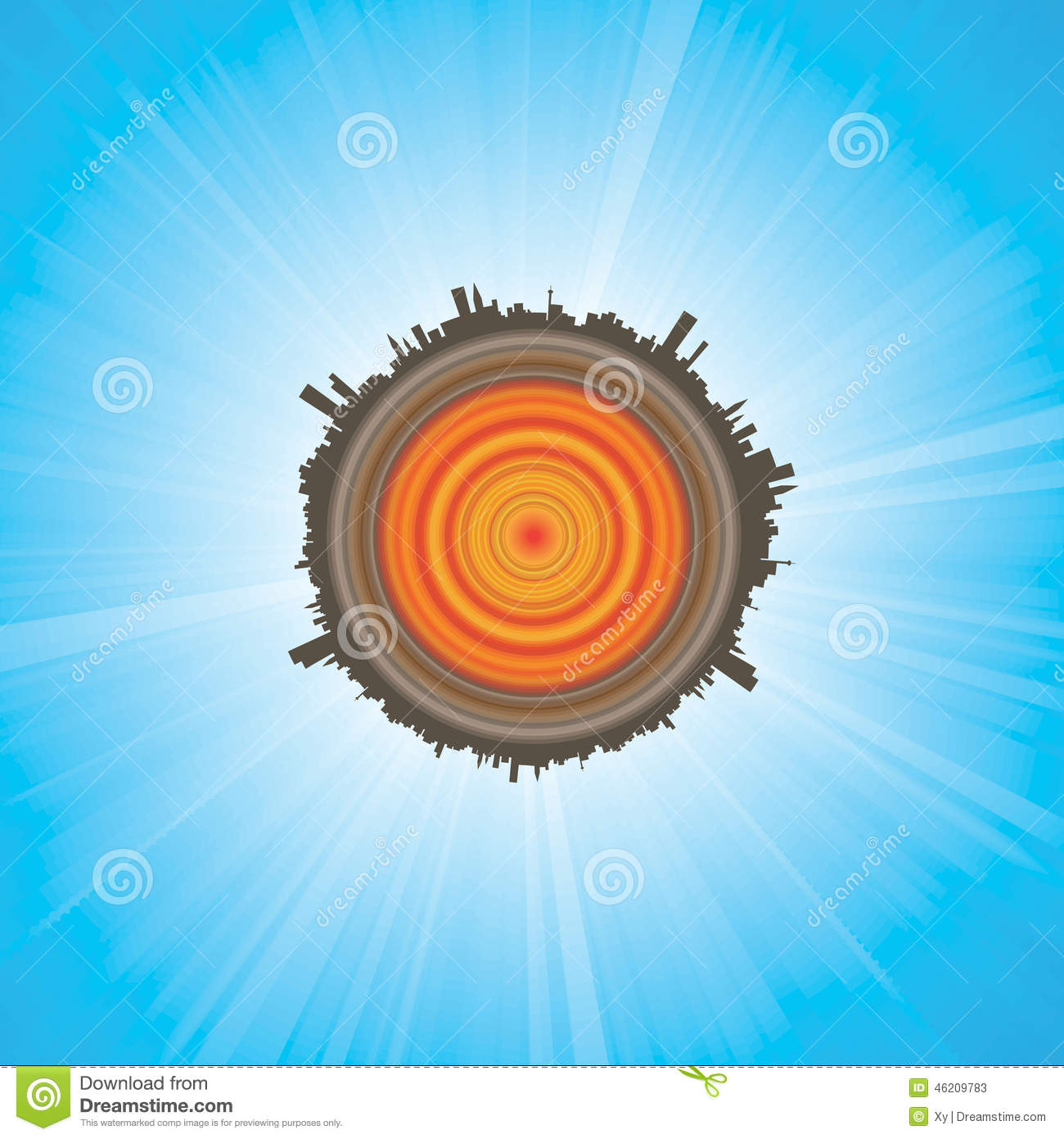 Planet Earth Cross Section Stock Vector Illustration Of