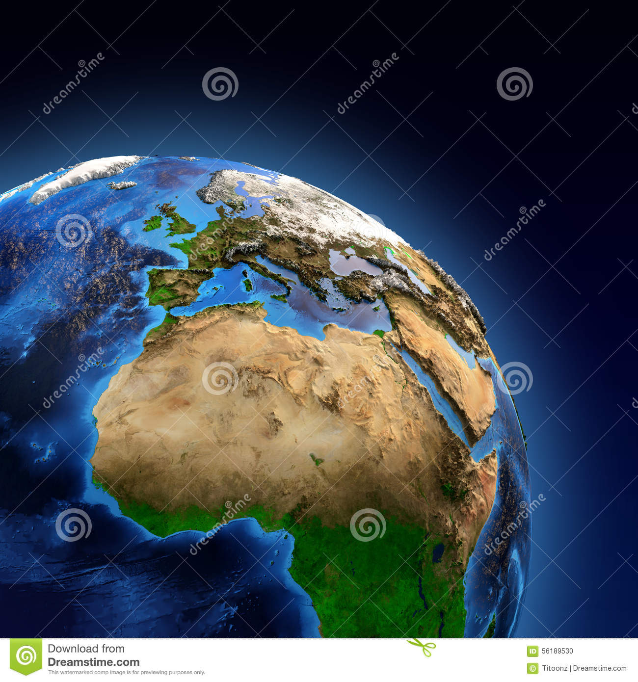 Planet Earth Landforms Stock Photo