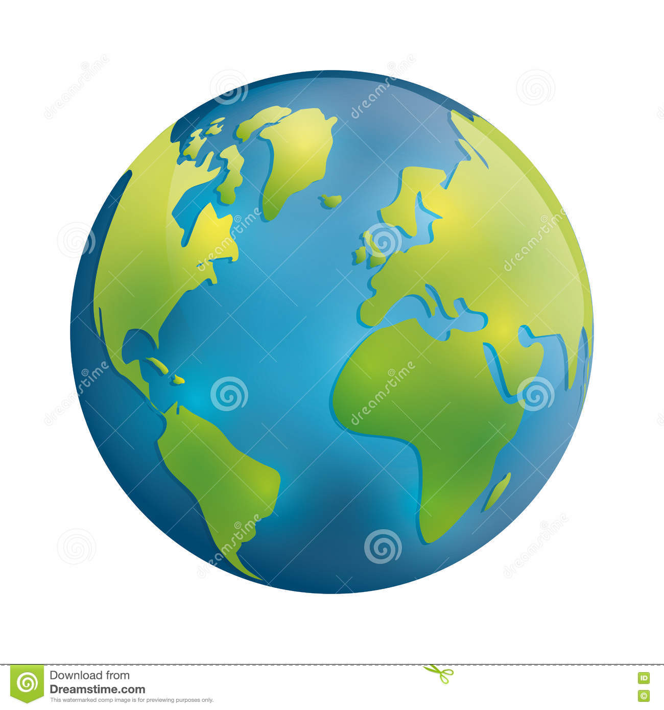 Planet Icon Earth Sphere Design Vector Graphic Stock