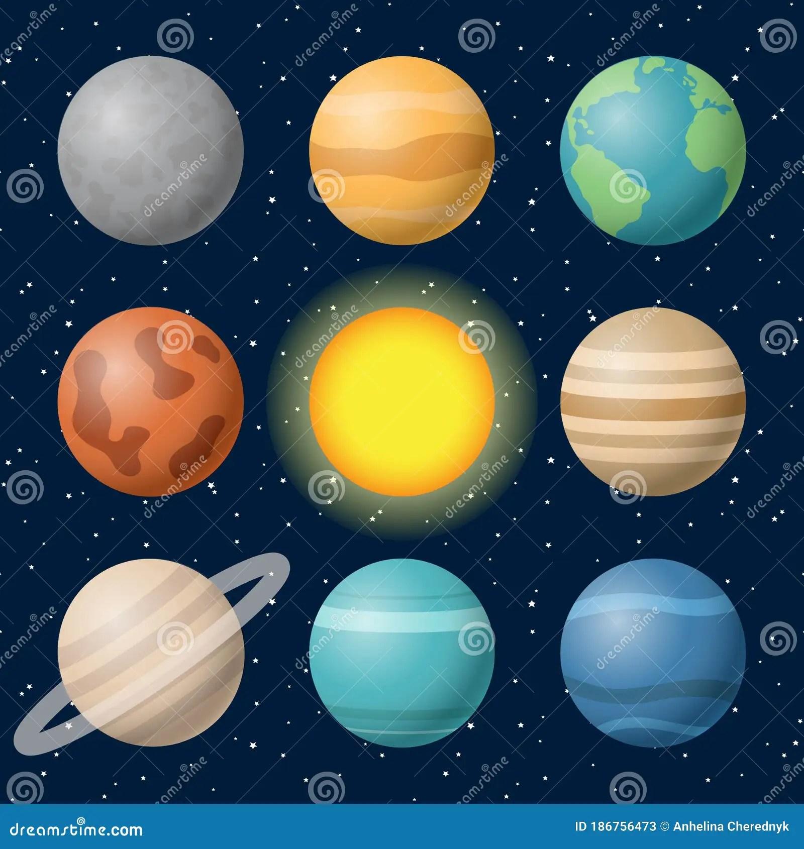 Planets Of The Solar System Mercury Venus Earth Mars