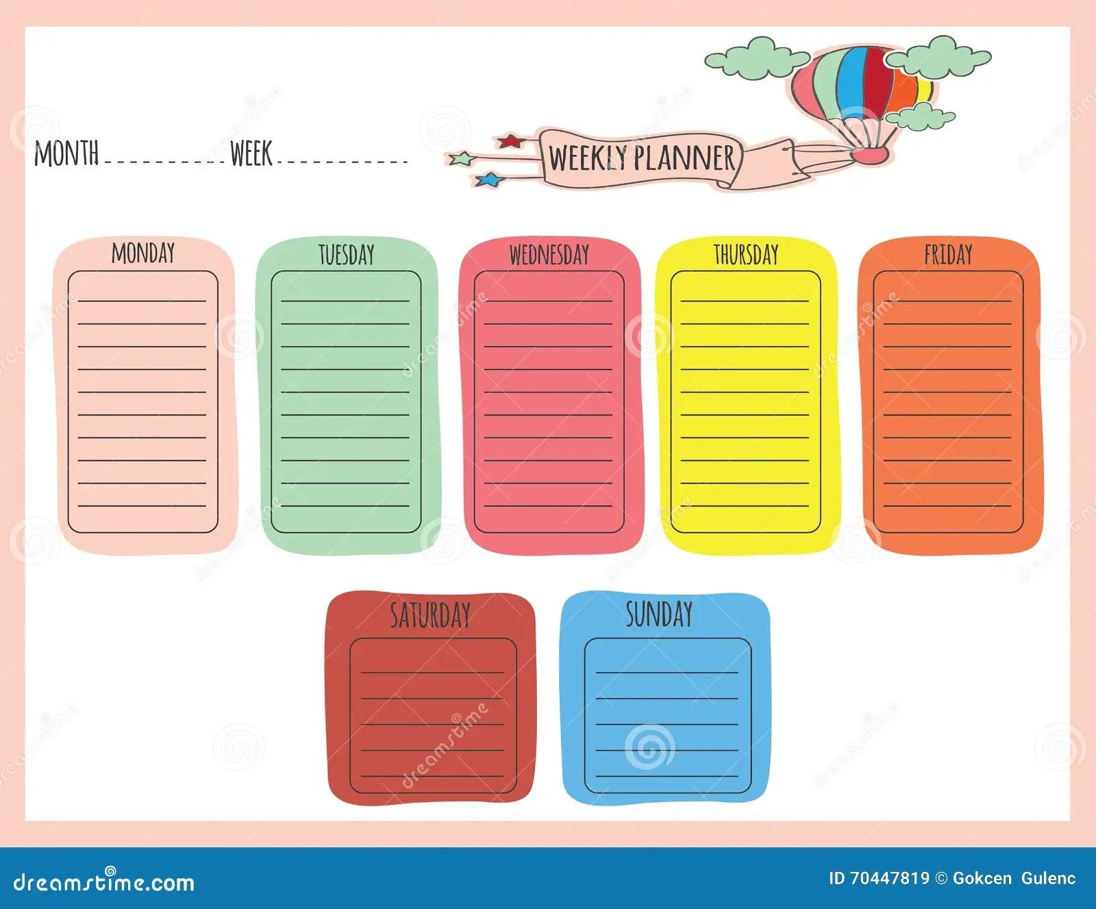 Planificador Semlindo Ilustracion Del Vector