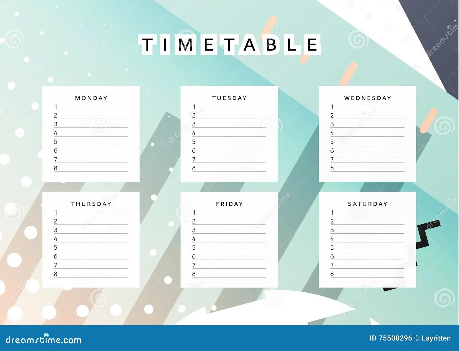 Planner Calendar Schedule The Week Abstract Design