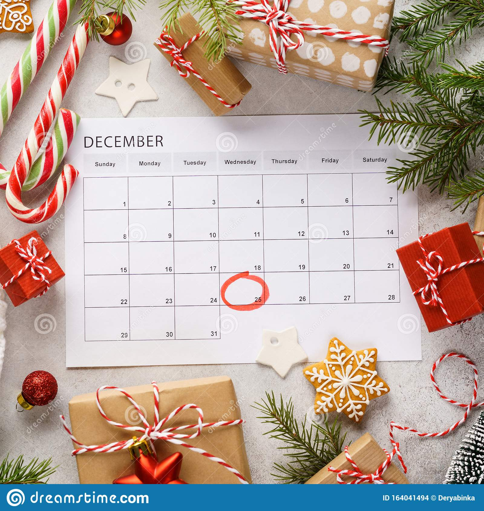 Planner Page With Christmas T Boxes And Decoration