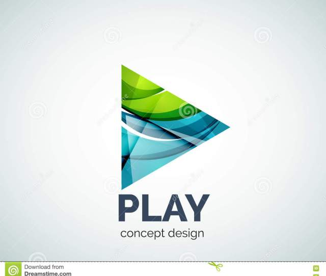 Play Button Logo Business Branding Icon