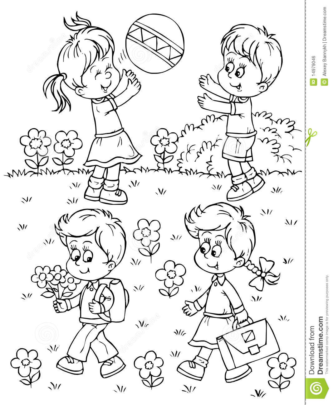 outside coloring pages children playing outside coloring pages i2