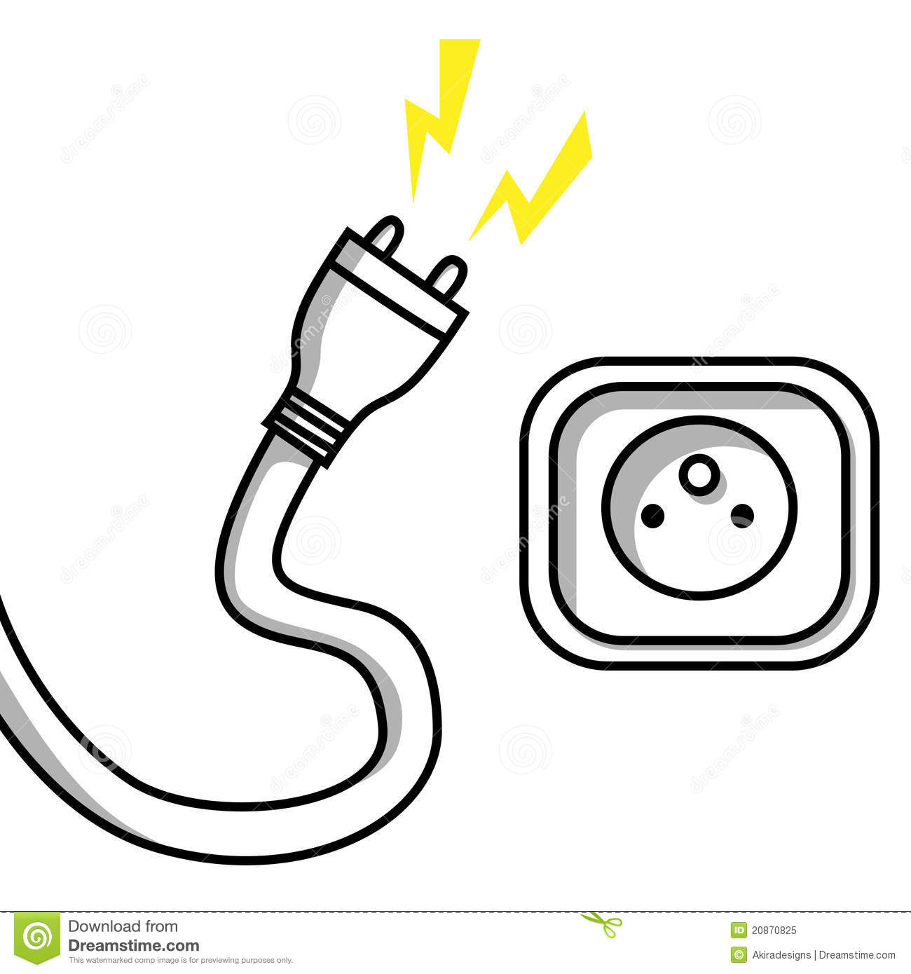 Plug And Socket Stock Vector Illustration Of Industrial