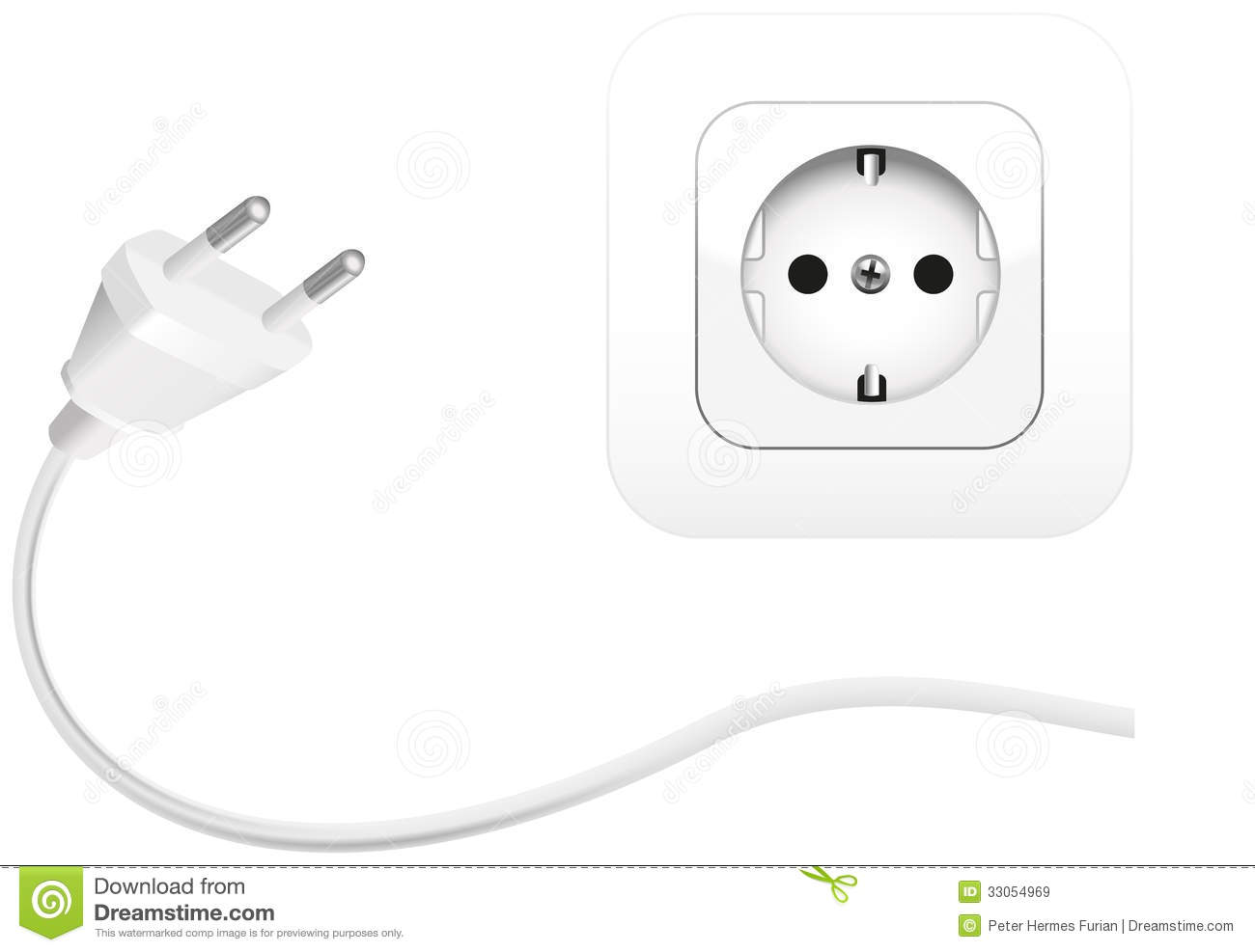 Plug An Socket Royalty Free Stock Images