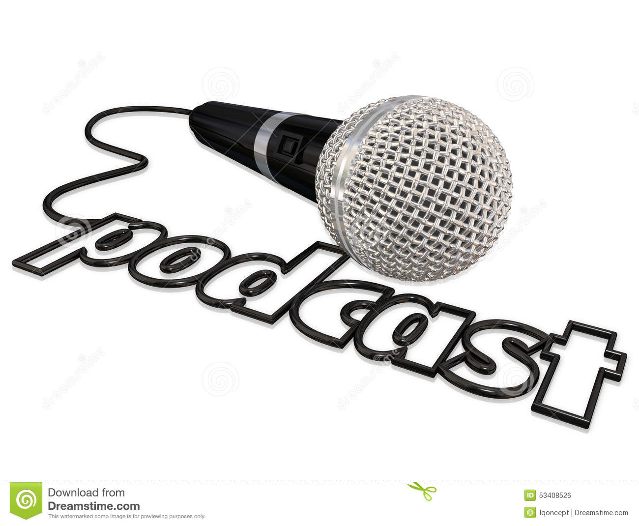 Podcast Cord Microphone Communication Sharing Opinion