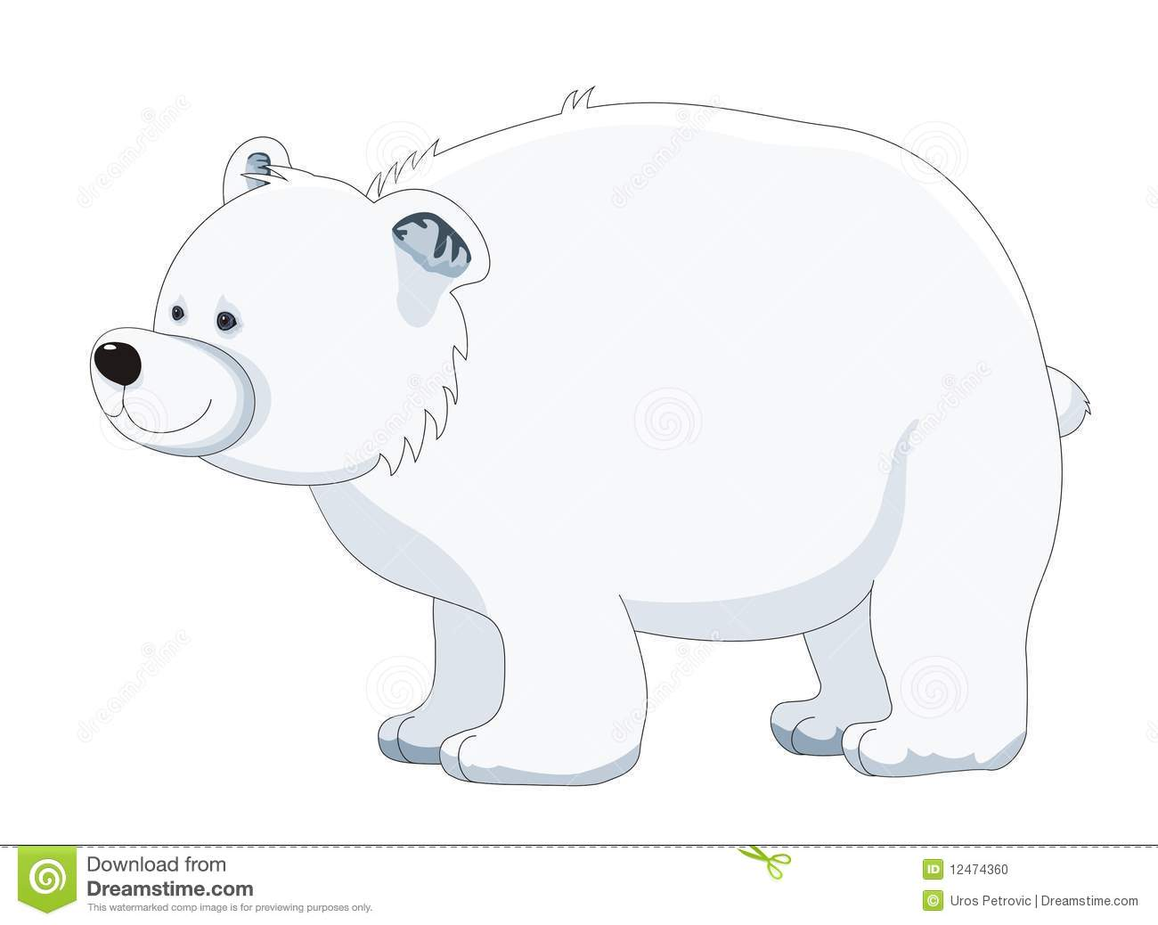 Polar Bear Cartoon Vector Illustration Stock Illustration