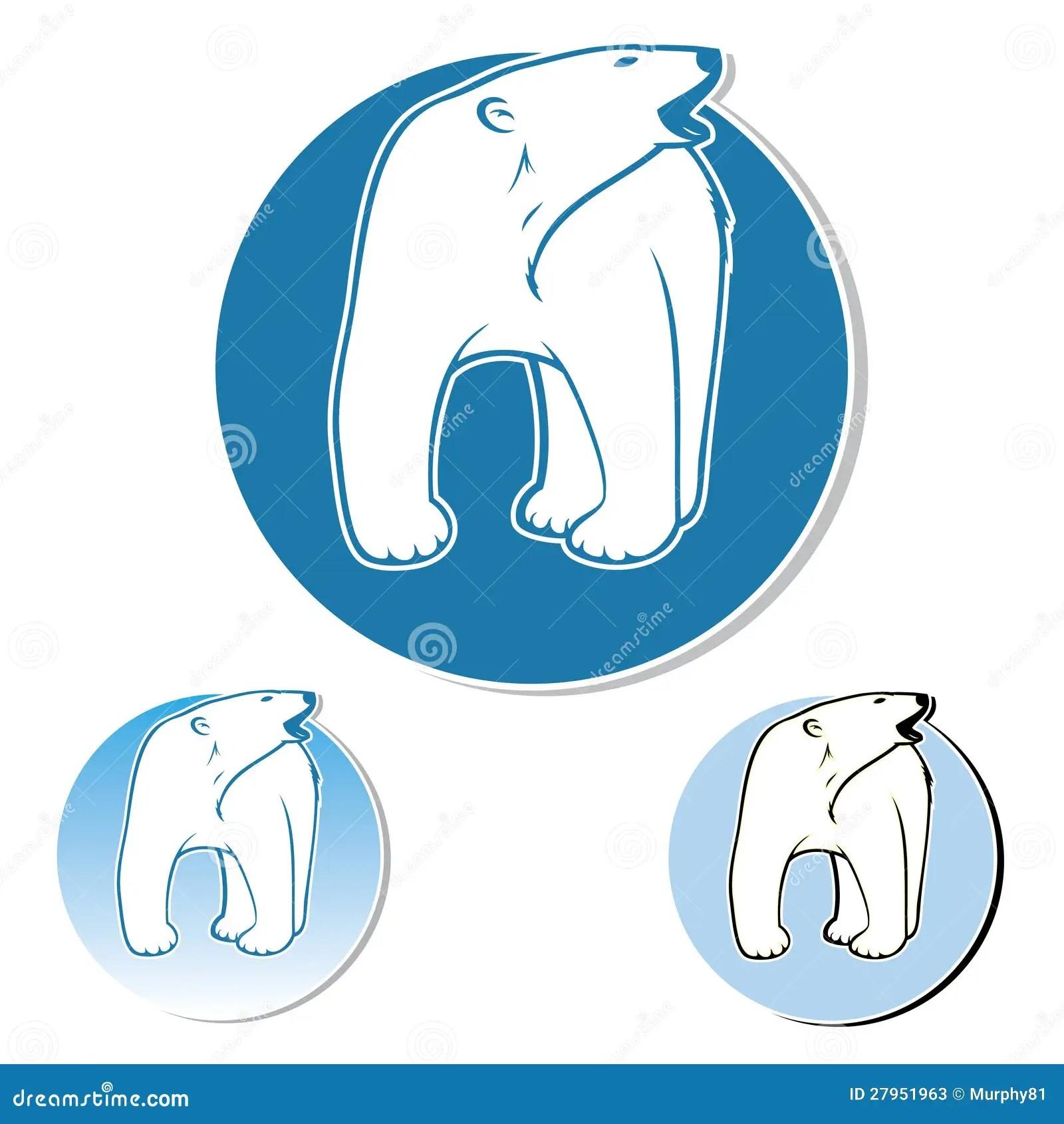 Polar Bear Label Stock Vector Illustration Of Animal