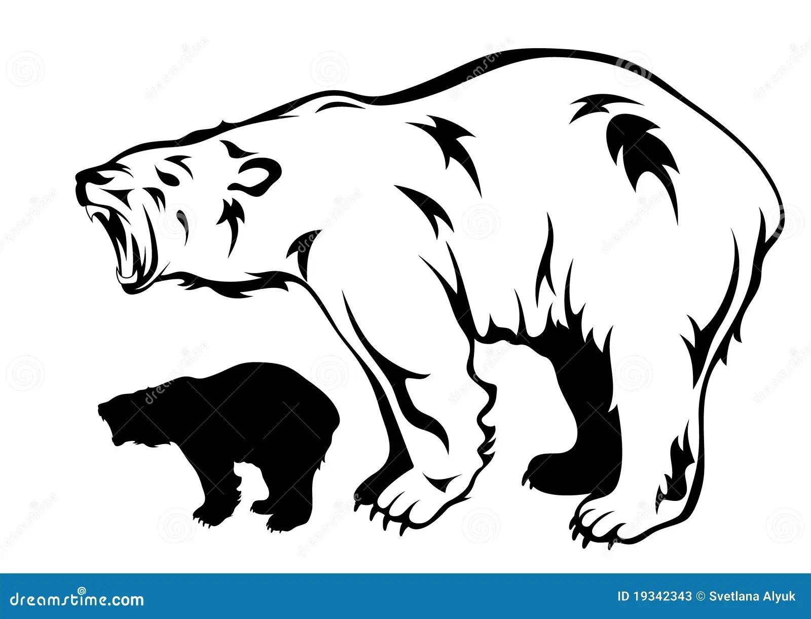 Polar Bear Vector Stock Vector Illustration Of Aggression