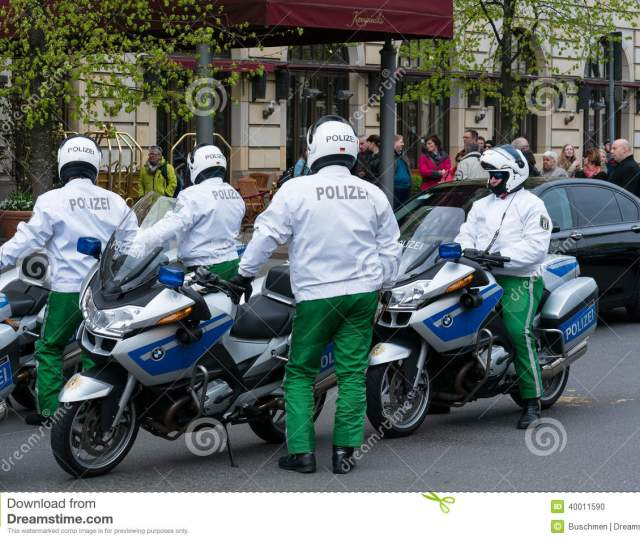 Police Escort On Motorcycles