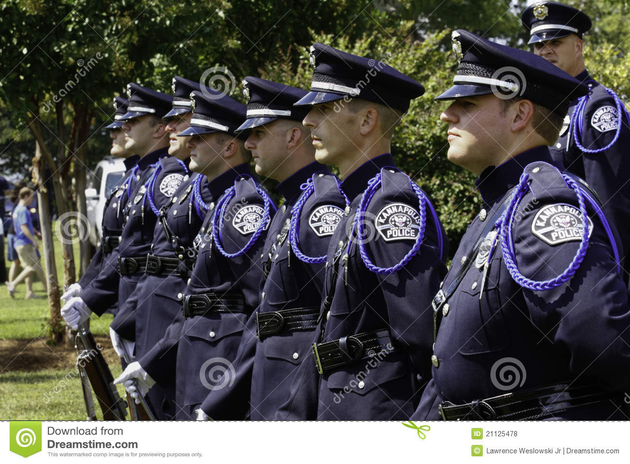 Police Honor Guard At 9 11 Ceremony Editorial Stock Photo