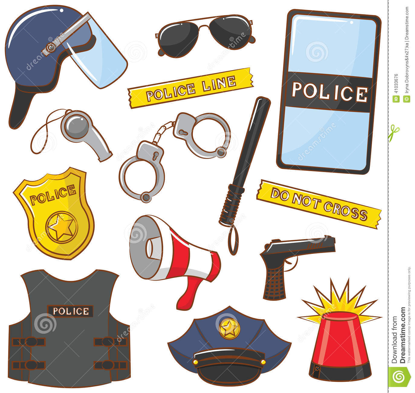 Police Icons Stock Vector Illustration Of Symbol Flasher
