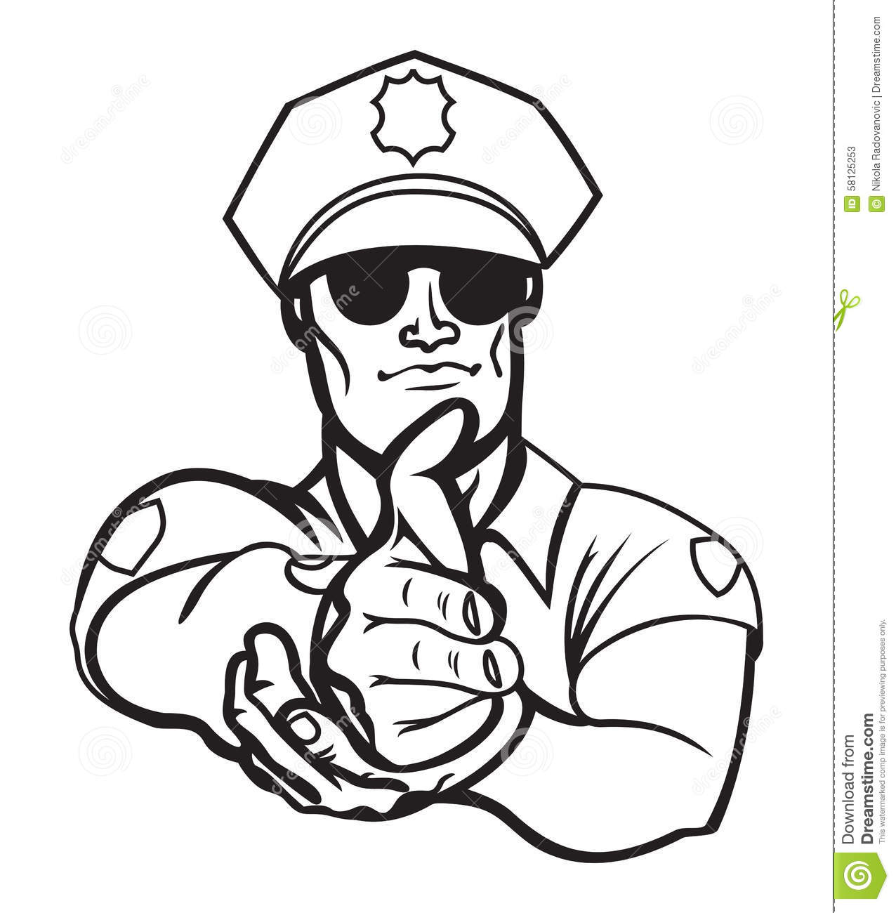 Police Officer Stock Vector