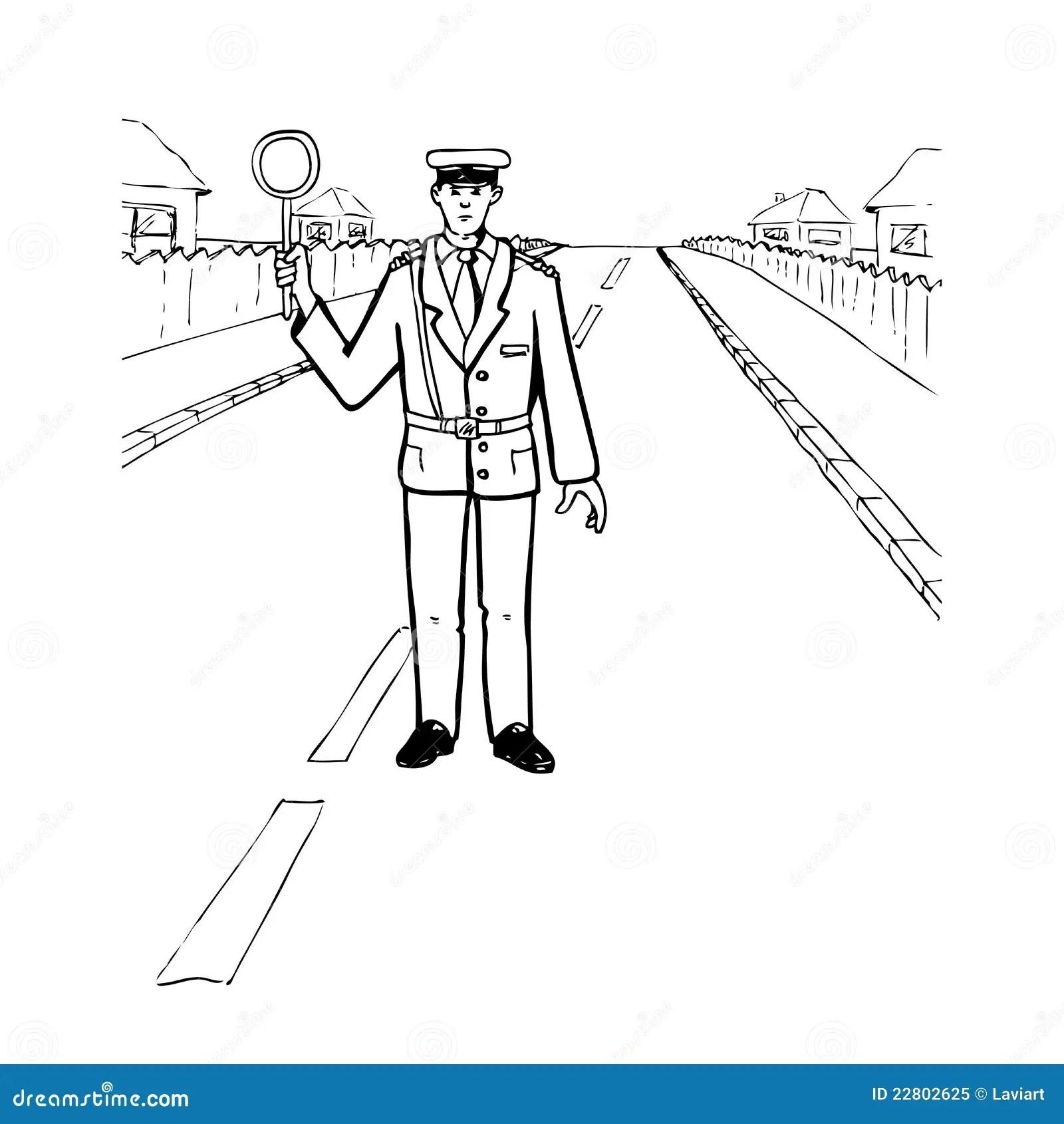 Polis Stock Illustrationer Illustration Av Regler Linje